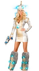 Sexy Deluxe Light-Up Robot Costume