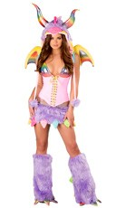 Deluxe Rainbow Dragon Costume