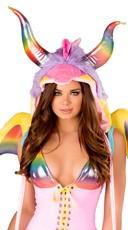 Rainbow Dragon Hood