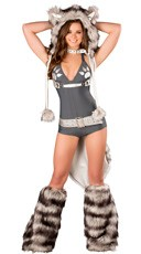 Deluxe Sexy Wolf Romper Costume