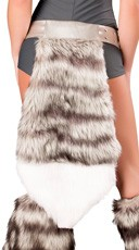 Wolf Belt With Furry Tail