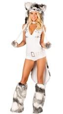 Deluxe Sexy White Husky Costume