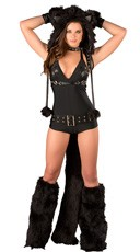 Deluxe Black Cat Romper Costume