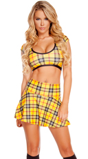 Plaid Mini Skirt Set