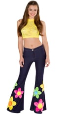 Flower Child Crop Top and Bell Bottoms