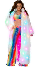 Rainbow Velvet Set with Light Up Coat