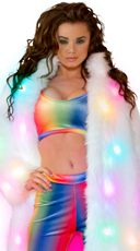 Rainbow Velvet Crop Top