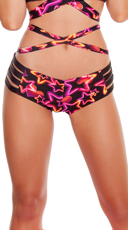 Strappy Neon Star Shorts