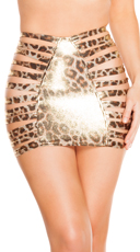Leopard Strappy Skirt