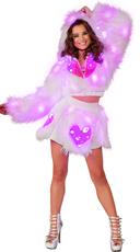 Light-Up Pink Heart Shag Jacket