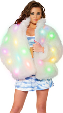 Light-Up Fur Coat