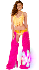 Pink Flower Power Light-Up Chaps Set