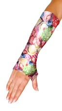 Metallic Gem Fingerless Gloves