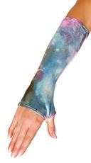Metallic Galaxy Fingerless Gloves