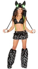 Black Furry Rave Animal Set