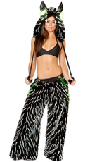 Women's Spiked Rave Monster Costume