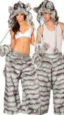 Sexy Rave Wolf Couples Costume