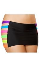 Neon Banded Mini Skirt