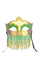Mardi Gras Mask with Jewelry