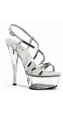 "Mirror Platform Sandal with 6"" Heel"