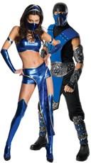 Blue Mortal Kombat Couples Costume