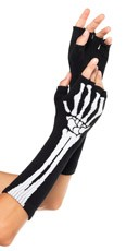 Arm Skeleton Fingerless Glove Set