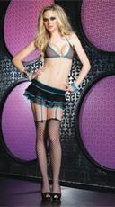 Fishnet Bikini Top and Skirt