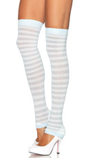 Opaque Striped Leg Warmers