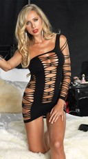 Seamless Shredded Mini Dress