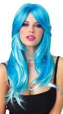 Wavy Neon Blue Wig