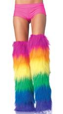 Furry Rainbow Legwarmers