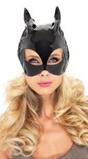 Vinyl Cat Woman Costume Mask