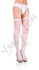 Plus Size Fishnet Stocking with Attached Garter Belt