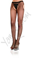 Plus Size Sheer Suspender Style Pantyhose