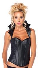 Faux Leather Vampire Corset