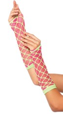 Dual Net Neon Arm Warmers