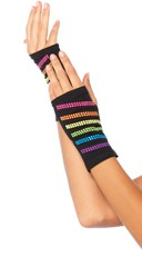Rainbow Studded Fingerless Gloves