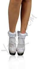 Lace Ruffle Nylon Anklet Socks