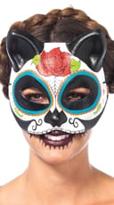 Sugar Skull Cat Mask