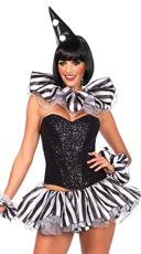 Black Stripe Ruffle Clown Kit