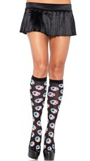 Eyeball Print Knee High Stockings