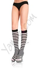 Zebra Striped Knee Highs