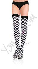 Eye Catching Checkered Stockings