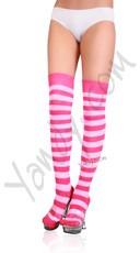 Striped Thigh High Stocking