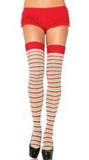 Mini Rainbow Striped Thigh Highs