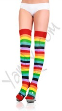 Lycra Acrylic Rainbow Thigh High