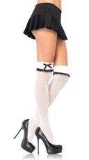 Bow Topped Over the Knee Socks