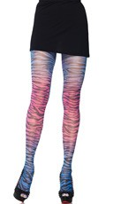 Blue and Pink Zebra Print Pantyhose
