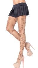 Sheer Dollar Sign Pantyhose