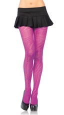 Colorful Art Deco Crochet Tights